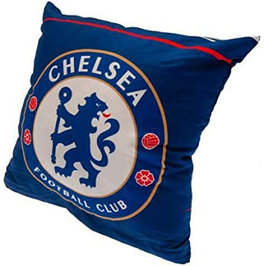Chelsea FC Official Soccer Crest Cushion (One Size) (Blue/White)