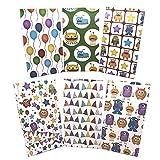 Sinoest Calendario de Adviento para rellenar con caramelos, bolsas de papel para dulces, bolsas de regalo para baby shower, cumpleaños infantiles (monstruo)