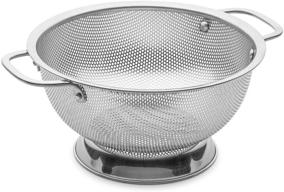 مصفاة من الفولاذ المقاوم للصدأ مثقبة صغيرة - آمنة للاستخدام في غسالة الأطباق (3 قطع) من بيليمايدي