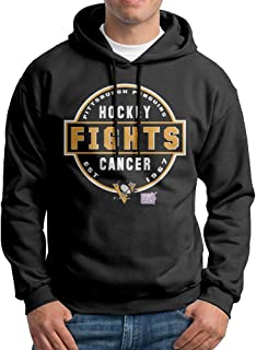 Pittsburgh Penguins Hockey Fights Cancer Conquer Men's Printing Design Hoodies