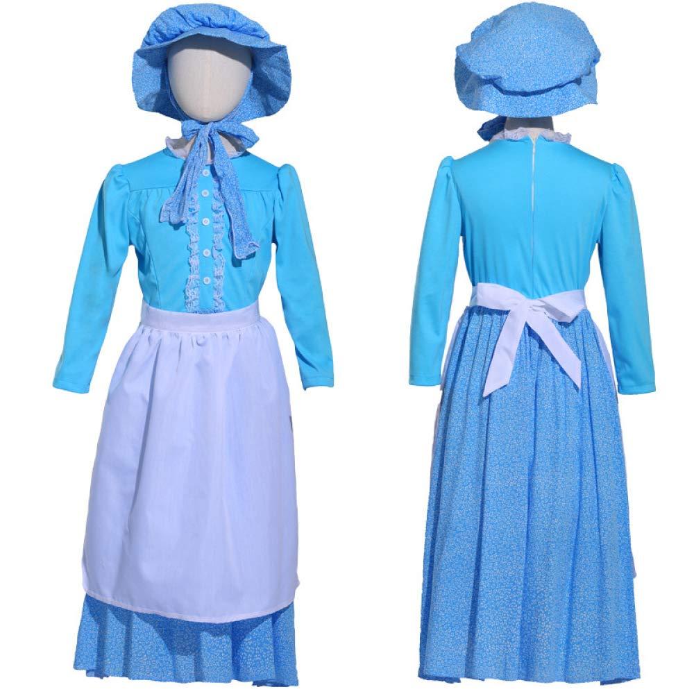 COSOER Vestido Flaco Suave para Niños Disfraz De Pionera Colonial ...