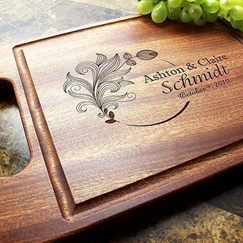 Personalized Cutting Board Custom Keepsake Engraved Serving Cheese Plate Wedding Anniversary Engagement Housewarming Birthday Corporate Closing Gift 403