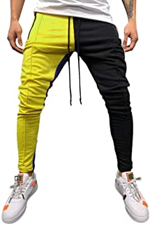 comprar comparacion VPASS Pantalones para Hombre,Impresión de Letras Pantalones de chándal Sueltos Ocasionales Running Jogging Pantalon Slim F...