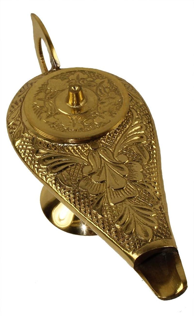 インサートジョージバーナード呼吸する6インチ真鍮製アラジンGenieランプ: Incense Burner