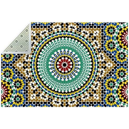 Bennigiry Teppich, weich, arabischer Farbstoff, rutschfest, für Wohnzimmer, Schlafzimmer, Spielzimmer, 180 x 119 cm, Polyester, multi, 200x150cm/79x59in