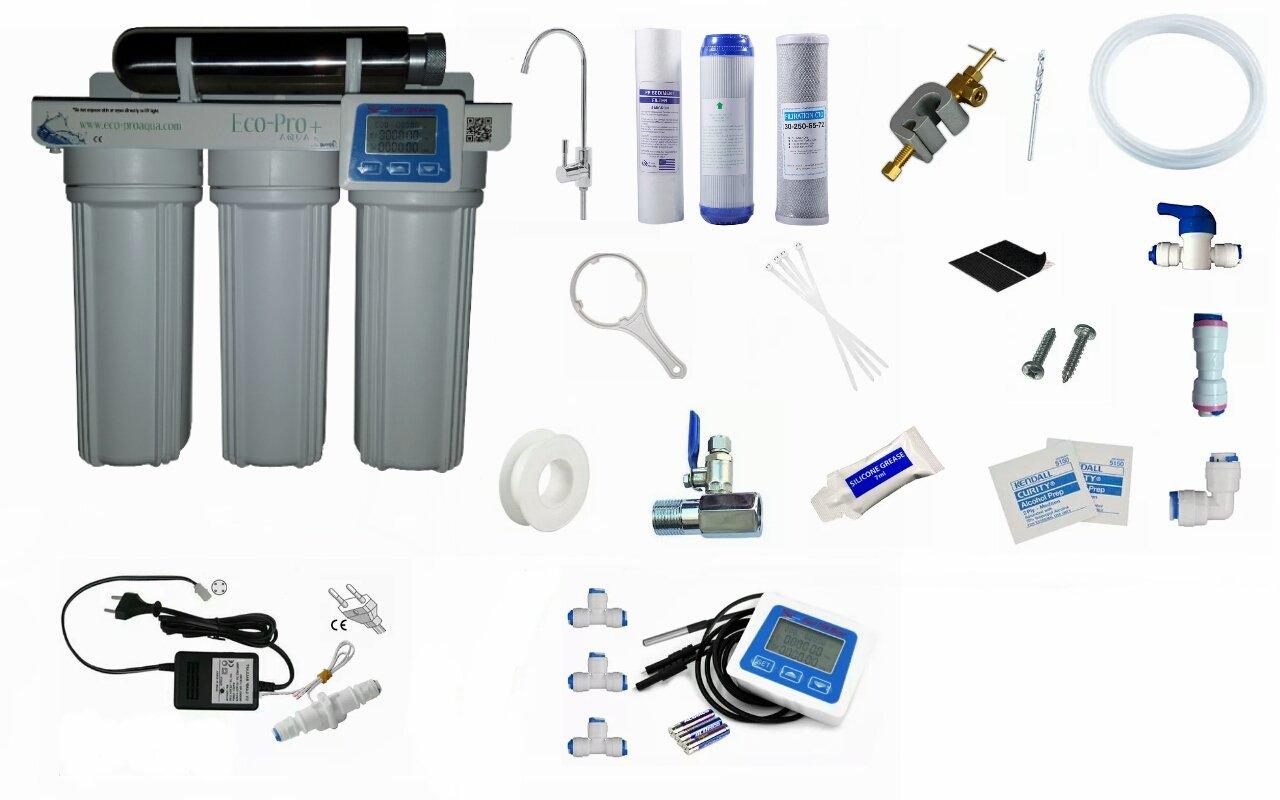 Eco-Pro+ Filtro de Agua con luz UV, Sistema Integrado de 4 etapas ...