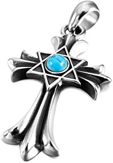 turquoise cross necklace mens