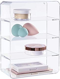 Clear Plastic Makeup Palette Vanity Organiser 4-Compartments