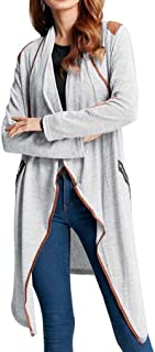 OVERMAL Womens Knitted Casual Long Sleeve Tops Cardigan Jacket Outwear Plus Size