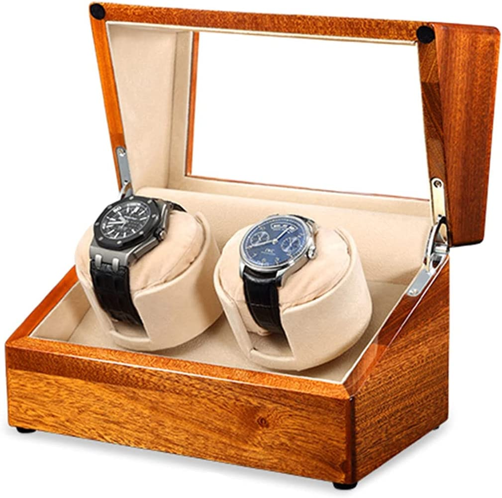 Luxury Automatic Watch Winder Wood w Financial sales sale Boxes Watches Double Minneapolis Mall