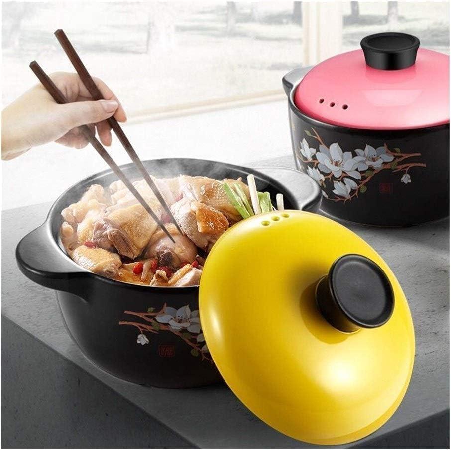 HUIJUNWENTI Céramique Soupe Pot Casserole Lait Pot gaz Utiliser Cuisine Pots en céramique Cocotte Cuisinière Casseroles Set Cuisinière Hot Pot Soup Wok (Color : Yellow) 1.8l