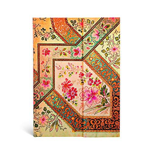 Blumenpracht Bukett Elfenbein - Notizbuch Midi Liniert - Paperblanks