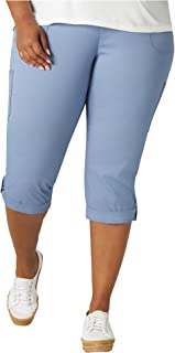 Lee Uniforms Women's Plus Size Flex-to-go Cargo Capri Pant