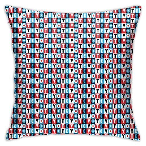 Vote Plaid Vote Cushion Covers Set Decorative Covers for Bedroom, Armchair or Living Room.