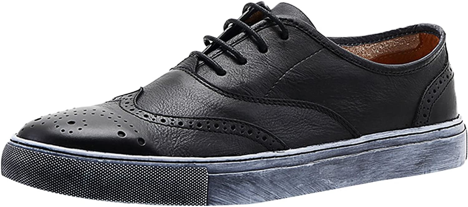 Icegrey Men's Leather Brogue Oxford Casual shoes Lace Up