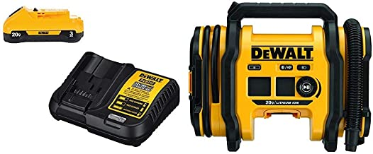 DEWALT DCC020IB 20V MAX Inflator with DCB230C 3Ah Battery/Charger Kit
