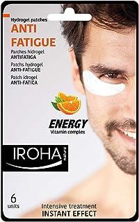 Iroha Nature - Parches Hidrogel para Ojos, Antifatiga con Vitamina C, para Hombres, 6 unidades   Parches Hydrogel Antifatiga Hombre Vitamin Complex