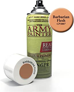 The Army Painter Color Primer, Barbarian Flesh, 400 ml, 13.5 oz - Acrylic Spray Undercoat for Miniature Painting