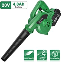 K I M O. Cordless Leaf Blower – 20V 4.0 Ah Lithium Battery Powered Lightweight, Compact..