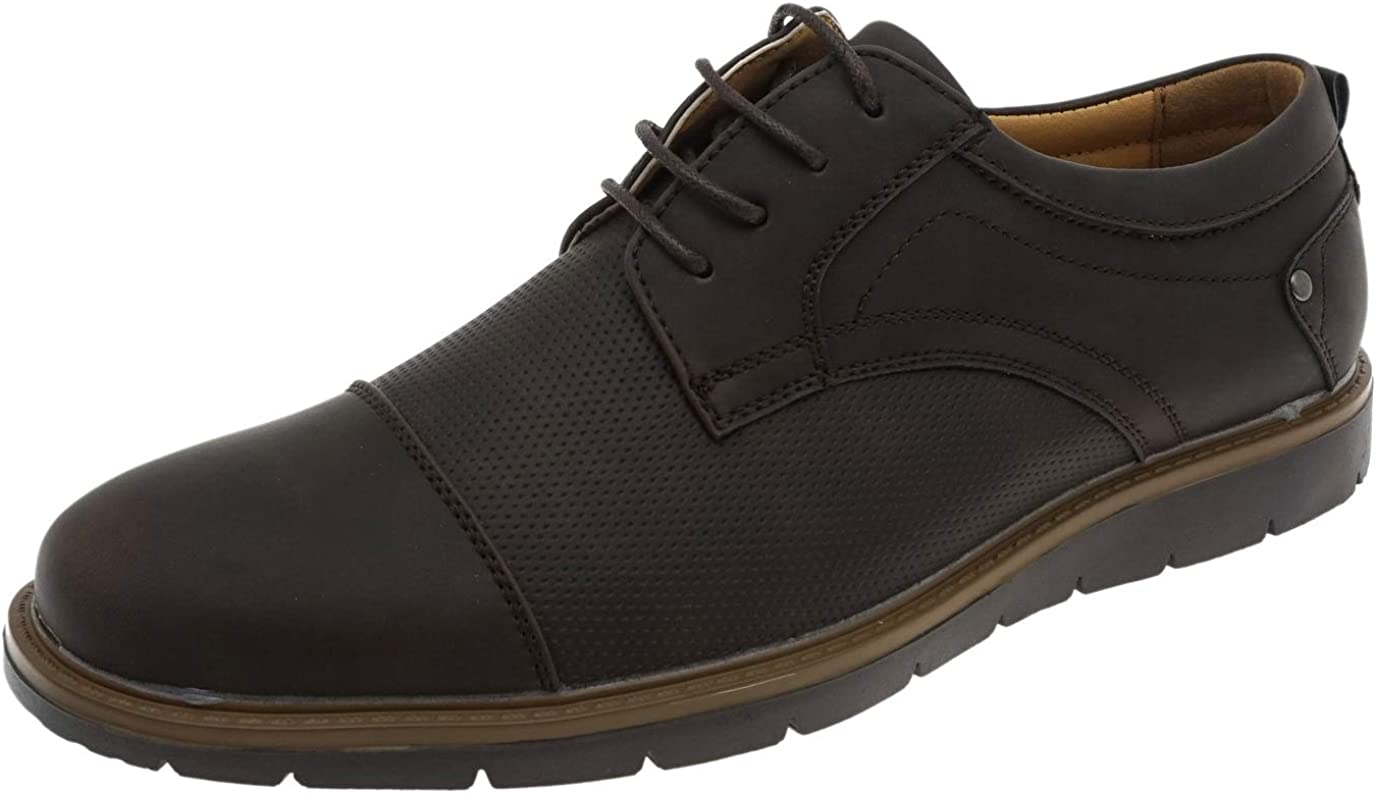 Cambridge A surprise price is realized Select Men's High quality Lace-Up Round Perforated Cap Toe Oxford