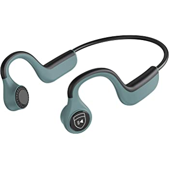 IYY Bone Conduction Headphones Wireless Bluetooth Earphones IP55 Waterproof Sports Open-Ear Headsets for Running Driving Cycling Meeting (Green)
