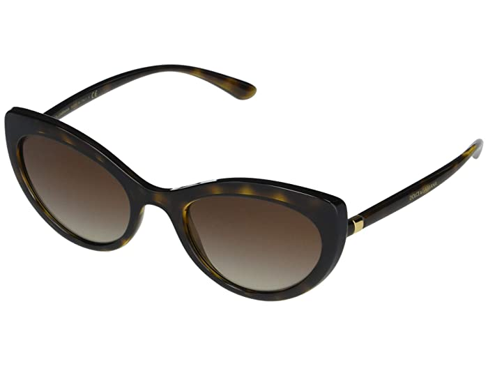 Dolce and Gabbana  DG6124 (Havana/Brown Gradient) Fashion Sunglasses