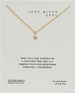 Itty Bitty Opal, Dotted Bezal Opal Necklace