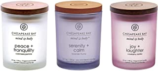 Chesapeake Bay Candle Scented Candle, Peace + Tranquility, Serenity + Calm, Joy + Laughter