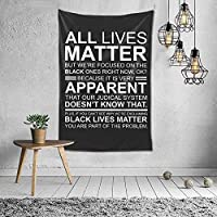 All Lives Matter Tapestry Wall Hanging Art Tapestries for Home Living Room Dorm Decor 60X40 Inch