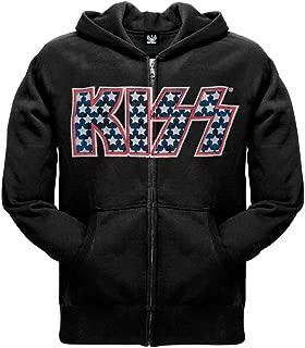 kiss zip hoodie