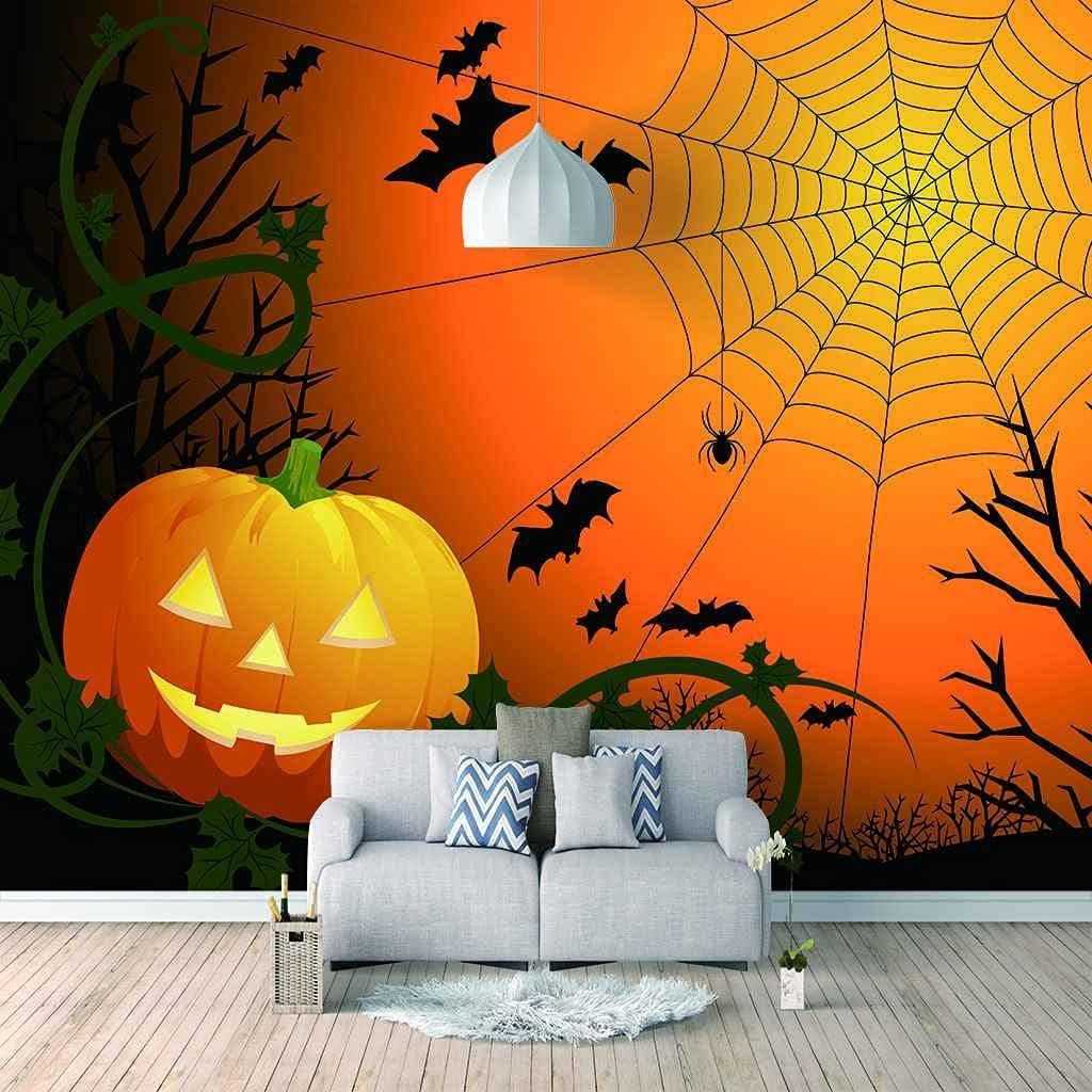 HWCUHL trend rank 3D Wall Stickers Mural Halloween Wallpaper Web Mur 4 years warranty Spider
