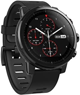 Amazfit Stratos Multisport Smartwatch with VO2max, All-Day Heart Rate and Activity Tracking, GPS, 5 ATM Water Resistance, Phone-Free Music, (A1619, Black)