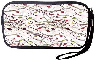 0838c1a54e Neoprene Wristlet Wallet Bag,Coin Pouch,Modern Art Home Decor,Bizarre Curl  Lines