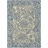 Maples Rugs Adeline Area Rugs for Living Room & Bedroom [Made in USA], 7 x 10, Blue