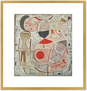 Printed Sheet with Picture by Paul Klee, 1937. Framed Art Print