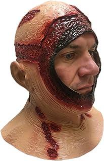 BLOODY HOOD MASK, Full Head, Latex, Jason Halloween Horror Movie Fancy Dress Masks