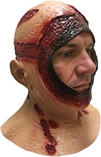 Rubber Johnnies, Bloody Hood MASK, Full Head, Latex, Jason , Halloween Accessories , Horror , Movie , Scary