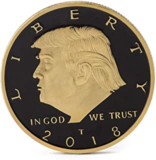 BZTT Commemorative Coin President Donald Trump Challenge Coin Gold Plated and Silver Plated, Gift for Friends, Kids, Lovers, Families( Gold)