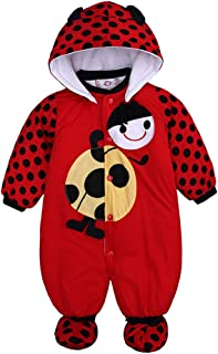 Fulision Baby Boy Girl Autumn Winter Printing Pattern Hooded Coat Warm Rompers Jumpsuit Bodysuit