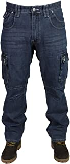 Kam Mens New MC Buddy Regular fit Combat Cargo Mid Used Jeans