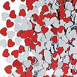 P Prettyia 30g Herzen Konfetti Streudeko Streuartikel Tischdeko für Hochzeit Valentinstag und Jubiläum