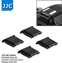 4Pcs Camera Hot Shoe Cover Protector Cap for Nikon Z6 Z7 D3500 D5 D4 D4s D3x Df D850 D810 D800 D750 D610 D500 D7500 D7200 D7100 D7000 D5600 D5500 D5300 D3400 D3300 D3200 Coolpix A P7800, as BS-1 BS-3