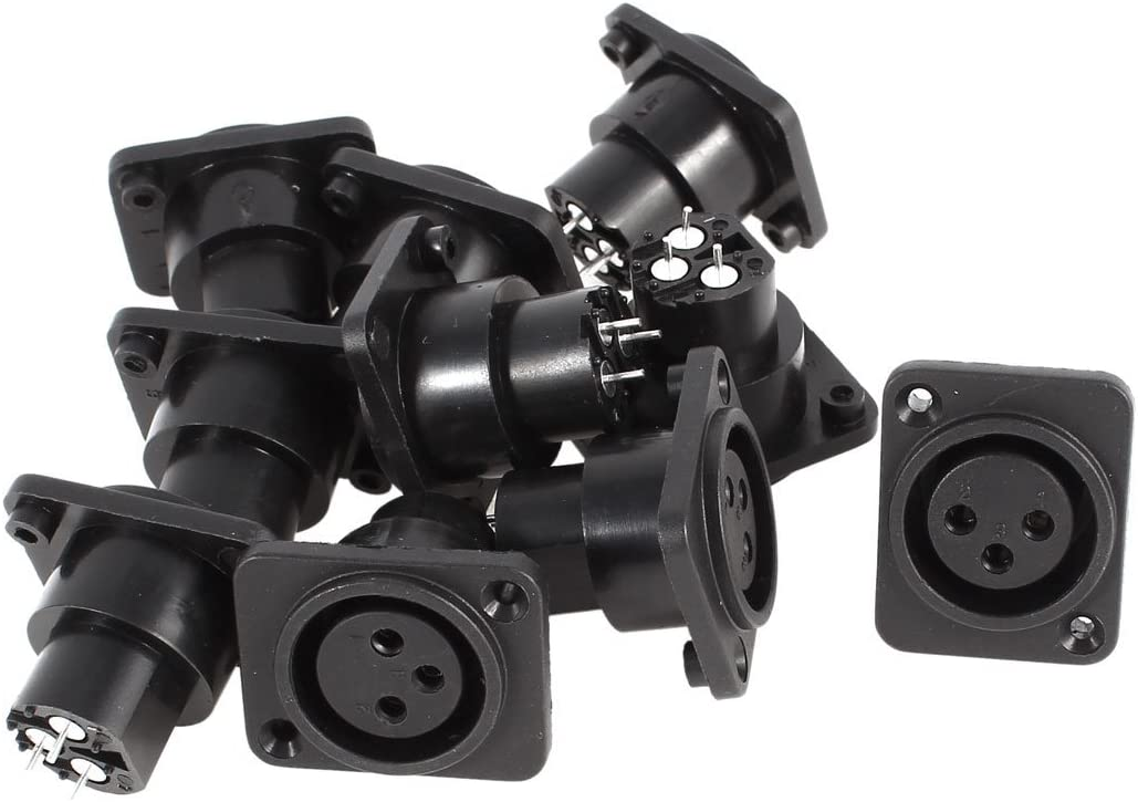 10 SEAL limited product x Gorgeous conector hembra negro XLR recto plateado