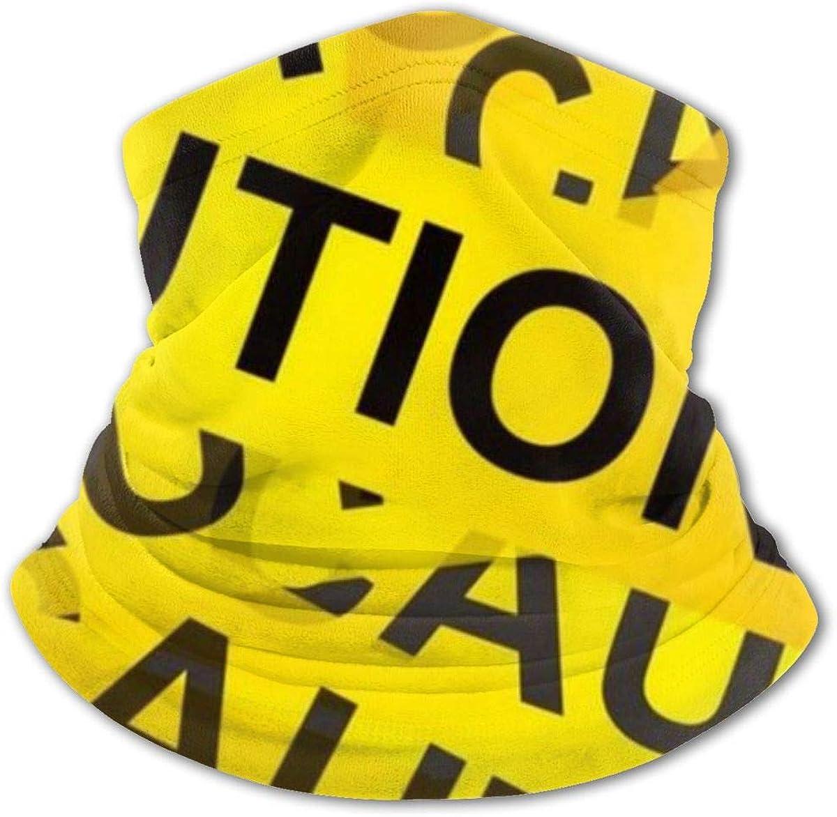 Caution Tape Headwear For Girls And Boys, Head Wrap, Neck Gaiter, Headband, Tenn Fishing Mask, Magic Scarf, Tube Mask, Face Bandana Mask For Camping Running Cycling