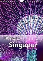Unterwegs in Singapur (Wandkalender 2022 DIN A4 hoch): Ein Stadtstaat der Superlative in Suedostasien. (Planer, 14 Seiten )