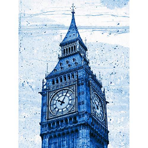 Wee Blue Coo Pintura Dibujo Landmark Londres Big Ben Reloj Impresión en lienzo