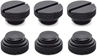 """SDTC Tech 6 Pack G1/4"""" Plug Fitting with O-Ring for PC Water Cooling Systems, Black"""