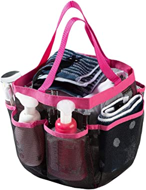 Shower Caddy Tote,Quick Dry Shower Bag,Oxford Double Handle Bathroom Organizer with 7 Oversized Storage Compartments Shower Tote Bag,Portable Mesh Shower Caddy for Camping,Gym,College Dorm
