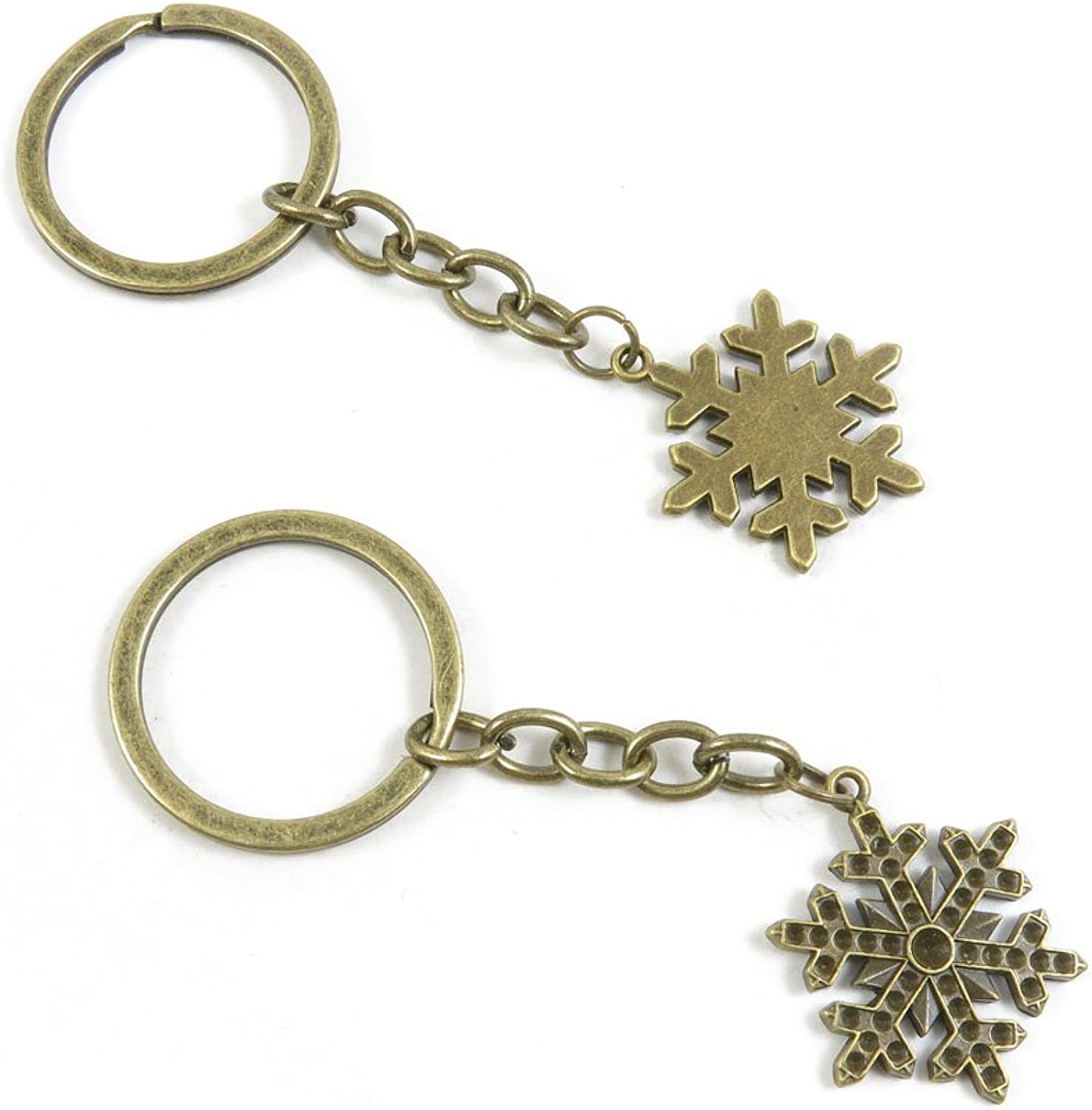 160 Pieces Fashion Jewelry Keyring Keychain Door Car Key Tag Ring Chain Supplier Supply Wholesale Bulk Lots C3BN0 Snow Flake Snowflake