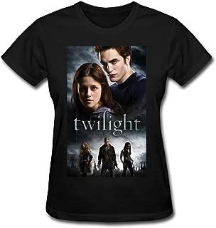 Congjun Shen Women's Short Sleeve The Twilight Saga Graphic Cotton T-Shirts